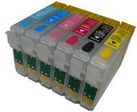 Перезаправляемые картриджи для EPSON Stylus Photo T50 R290 RX610 RX690 TX650
